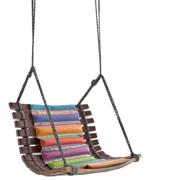 Recycled barrel stave swing by Angela Missioni
