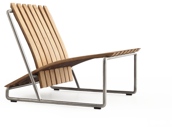 Recycled barrel stave chair by Aldo Spinelli